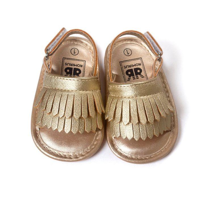 Tassel Infant Baby Girl Shoes Soft Leather Soft Bottom Crib Anti-slip Summer Shoes L07