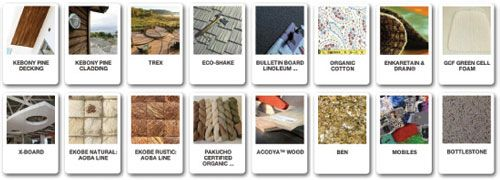 Eco material database ecolect is a sourcing company for List of materials used to build a house