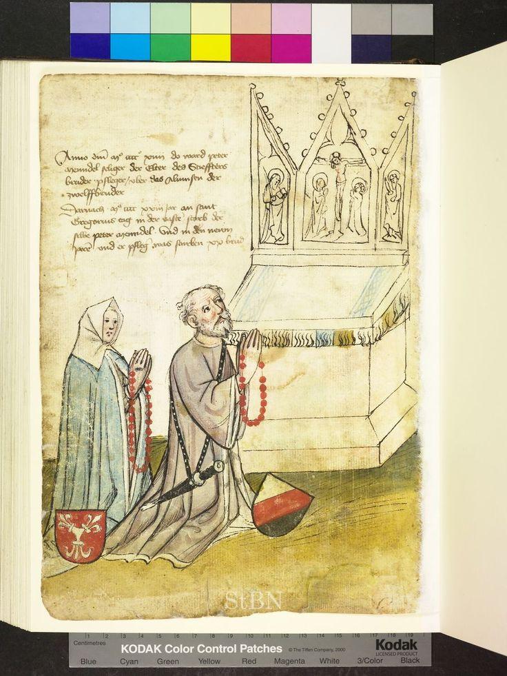 Amb. 317.2° Folio 33 verso  Amb. 317.2° Folio 46 verso  coral rosaries Die Hausbucher der Nurnberg Zwolfbruderstiftungen