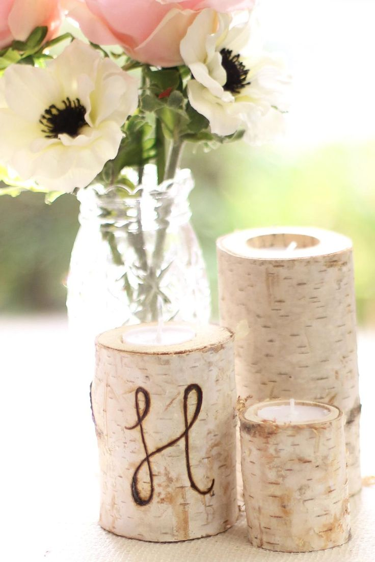 Set a rustic and romantic table with these centerpieces