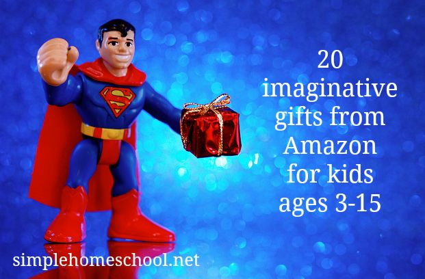 A list of 20 imaginative gifts from Amazon for kids ages 3-15