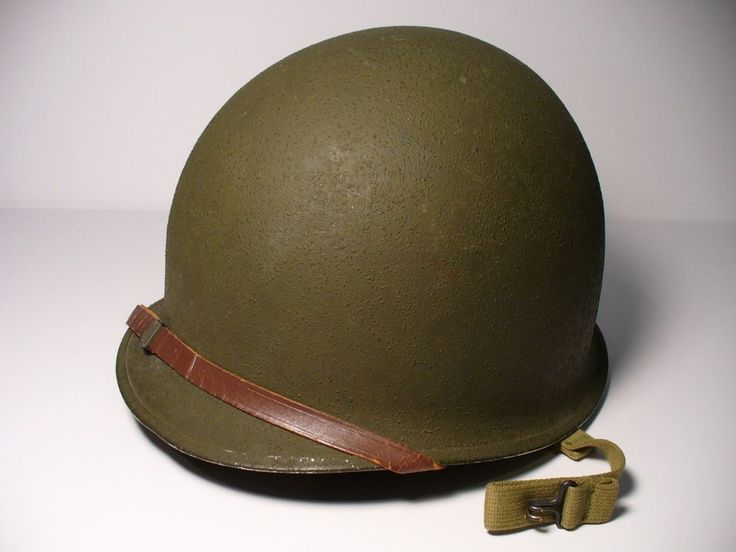 Original Ww2 U S Army Steel Pot M1 Helmet Vintage
