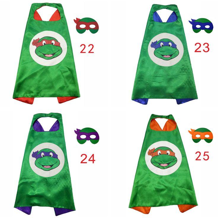 ZLJQ Cartoon Ninja Turtles Mask Cloak 2017 Fun Children Mask Cloak For Halloween Christmas Birthday Party Decoration Supplies 6D //Price: $9.95 & FREE Shipping //     hollidayssupplies
