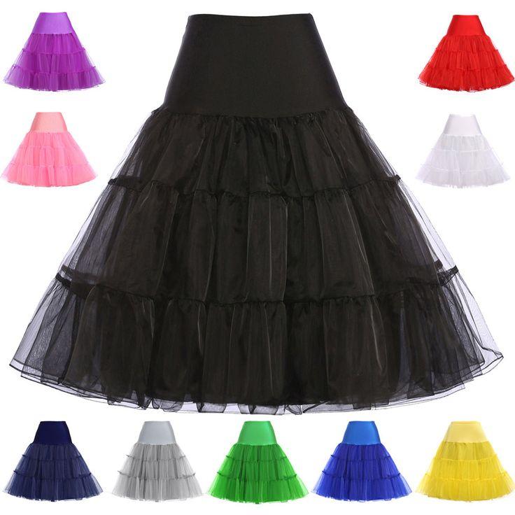 Petticoat Underskirt Grace Karin 7 Colors Women Retro Vintage Dress Crinoline Petticoat Rockabilly Underskirt For Wedding 8922