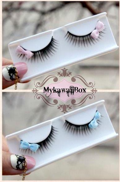 mykawaiibox1:   Single Baby Doll Bow Eyelashes ✩͓̊(ᵕ̴̤‧̮ ॣᵕ̴̤∗)ɞ₎₎☽˟http://mykawaiibox.storenvy.com/ Shipping Worldwide