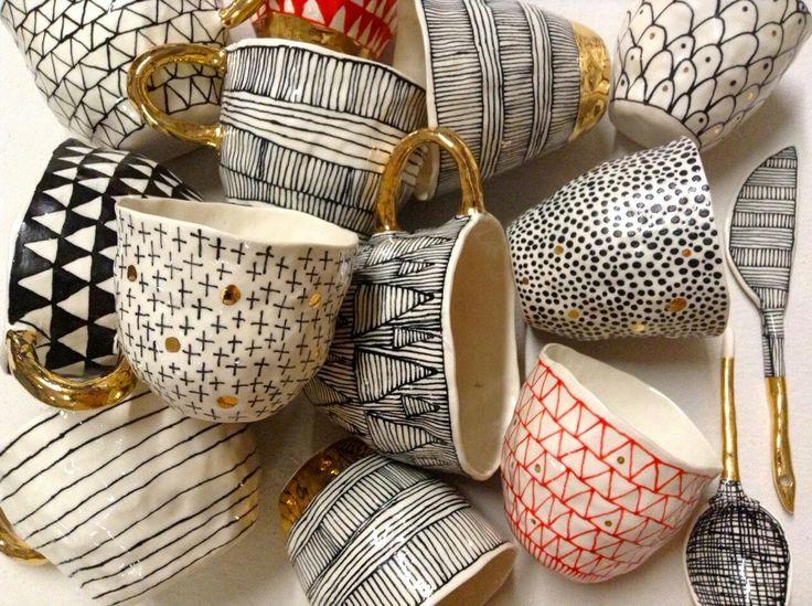 black and white #ceramics