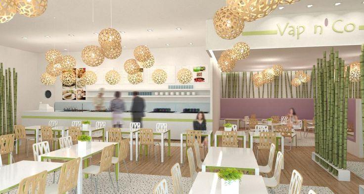 Concept Vap'n Co for a boutique in Paris, France