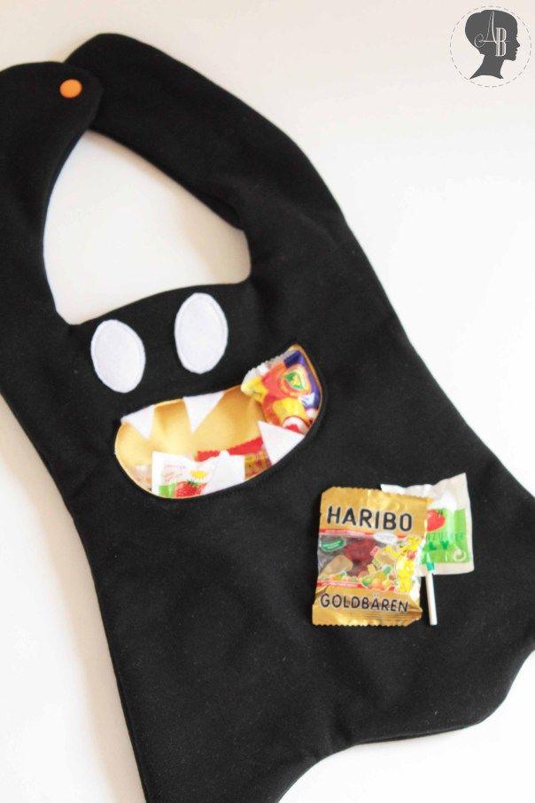 DIY: Halloween Tasche zum Sammeln der Süßigkeiten  #nähen #halloween #diy