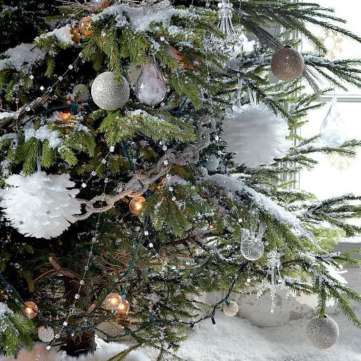 Mirrored hanging garland west elm xmas pinterest for West elm christmas tree
