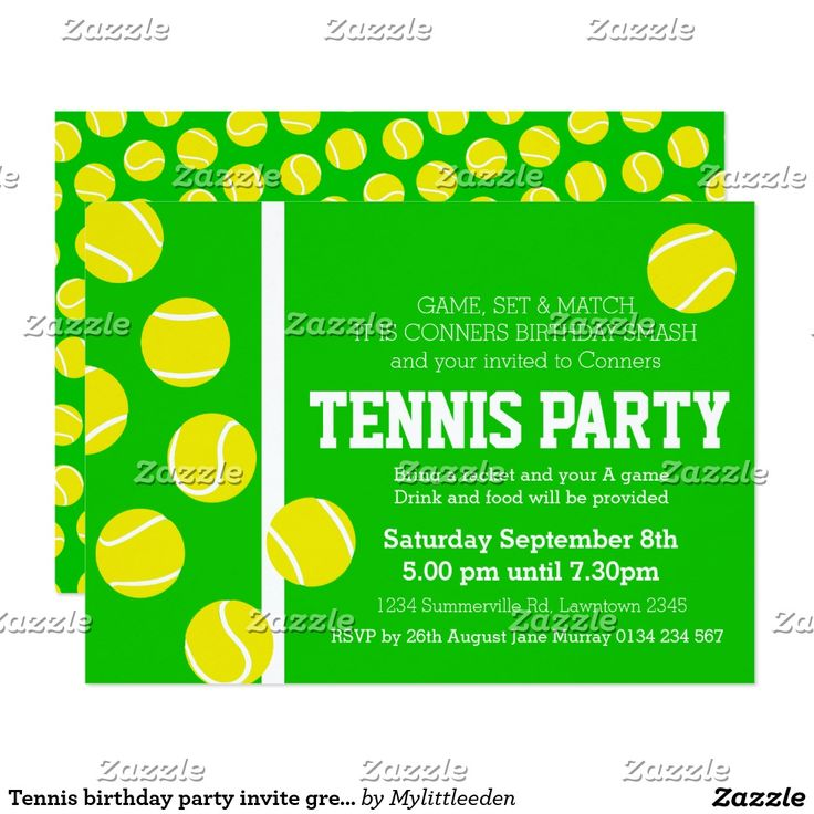 9 best Tennis Invitation Card images on Pinterest | Tennis party ...