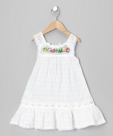 Loving this White Nathaly Ibiza Dress - Infant, Toddler & Girls on #zulily! #zulilyfinds