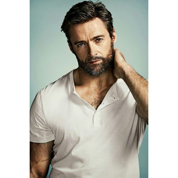 Hugh Jackman Mi chico ideal ❤ liked on Polyvore featuring men