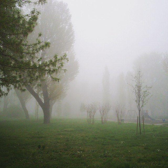 #URBAGRAMMA #12 Saluti dal QT8 #Scighera a #Primavera #Spring #Fog #Urban #Park #Milano #Nebbia