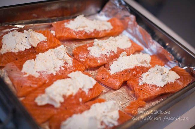 Pepparrotsfyld lax med ugnsrostade grönsaker - 56kilo - inspiration, hälsa och matglädje