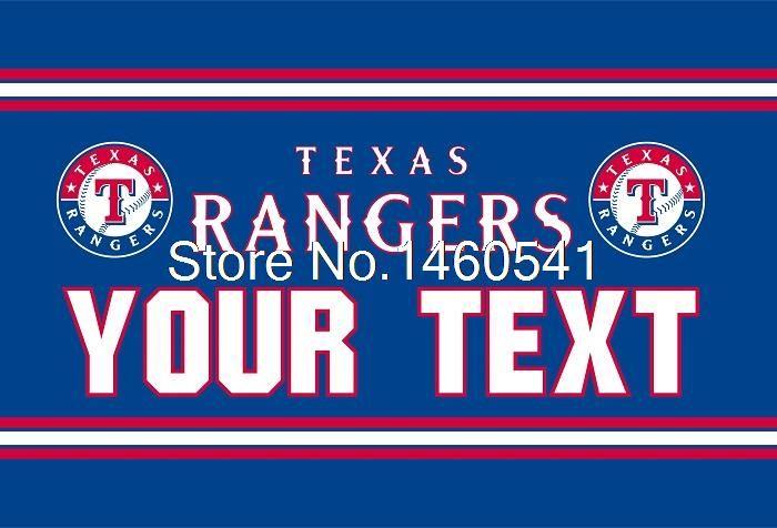 Техасские Рейнджеры Пользовательских Ваш Текст Флаг 3ft x 5ft Полиэстер MLB команда Баннер Летающий Размер № 4 144*96 см QingQing Флаг Супер Вентилятор