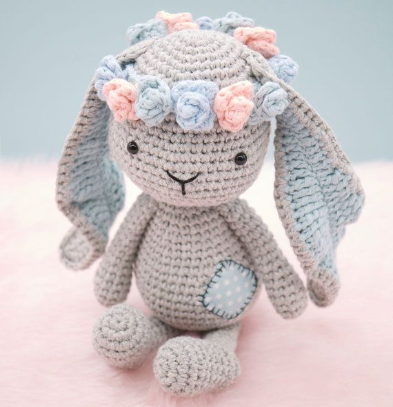 This is an original pattern (in English using American terminology) to create your own sweet little bunny rabbit called Matilda. Matilda is a real sweetheart. She never hesitates to help all her friends in the woods and offers a kind hug to anyone who needs one. BEFORE YOU PROCEED PLEASE NOTE THAT THIS LISTING IS FOR THE PATTERN ONLY AND NOT THE FINISHED DOLL OR THE PHOTO PROPS (e.g. flowers or wooden blocks) AND NO REFUNDS CAN BE OFFERED ON DIGITAL PURCHASES.  The pattern is suitable for…