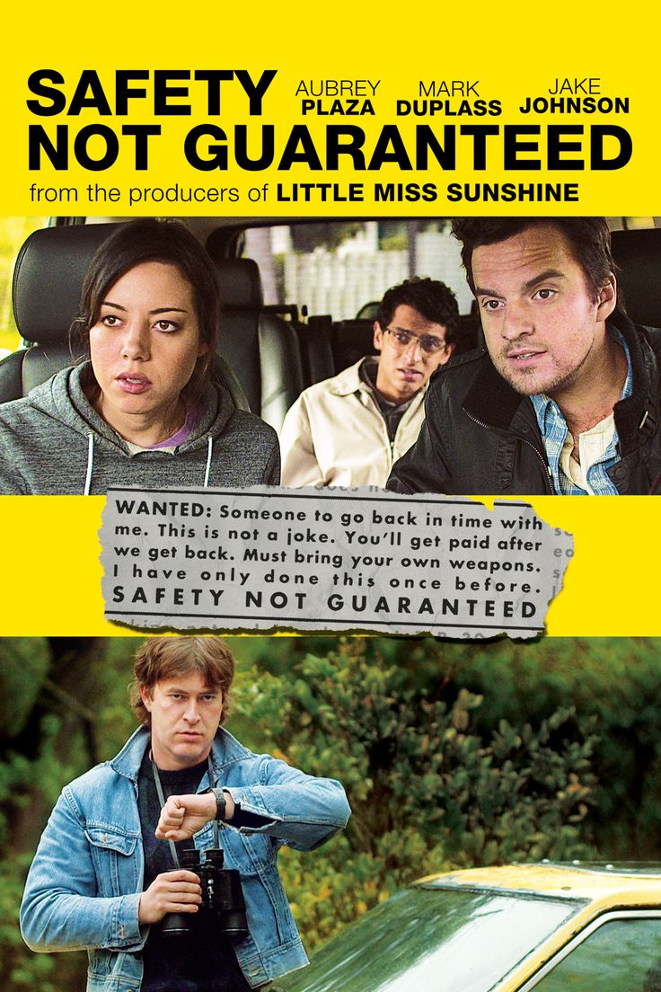 """Title: Safety Not Guaranteed (2012) Director: Colin Trevorrow Writers:Derek Connolly. Starring: Aubrey Plaza, Jake Johnson and Mark Duplass """"Ever faced certain death?"""" """"If it was so certain, I wouldn't be here. Would I?"""""""
