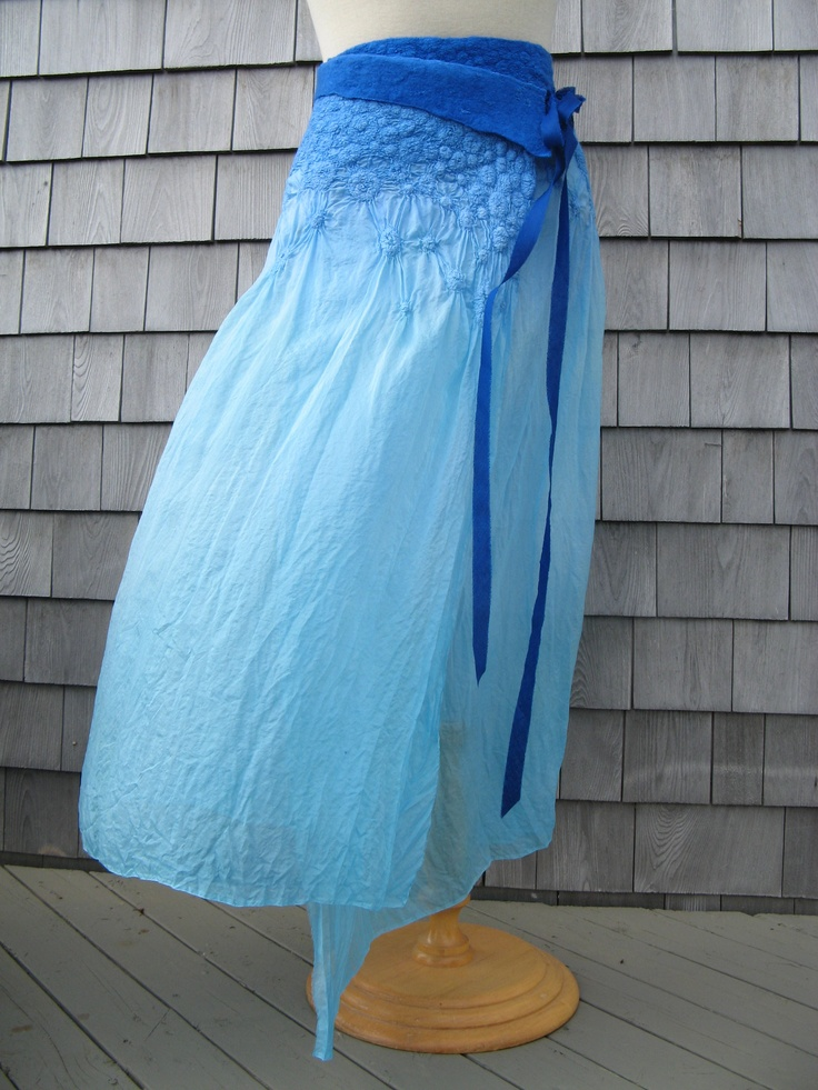 Nuno felted skirt. Too small for me . By Fibrensemble