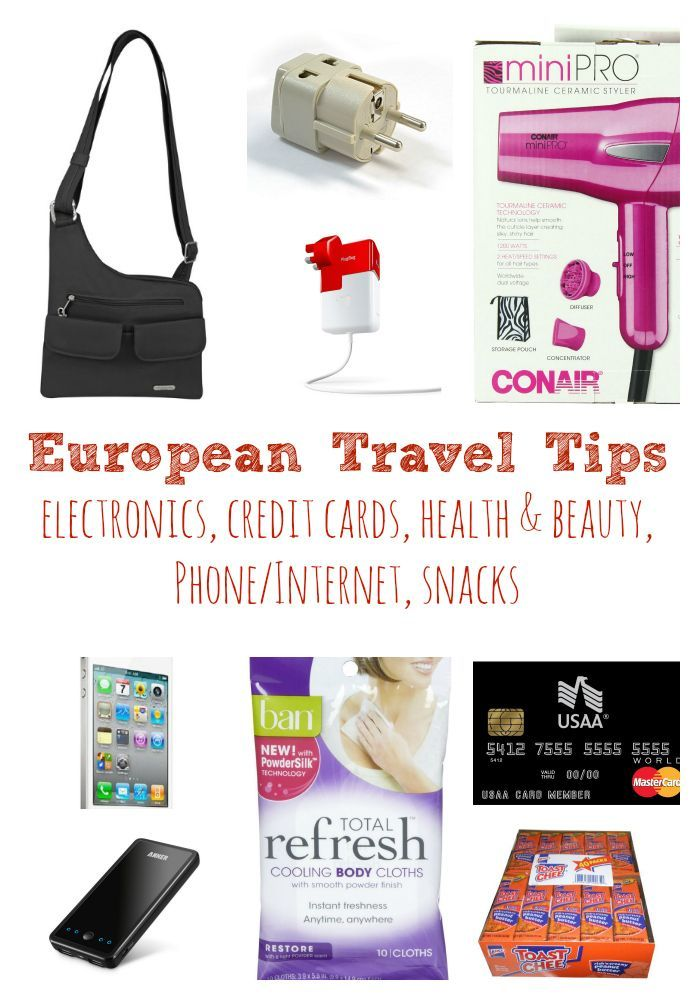 What to Take to Europe - traveling overseas? Here are some great tips on what to pack for your trip! Easy way to get local money, electronics, toiletries, snacks and more!