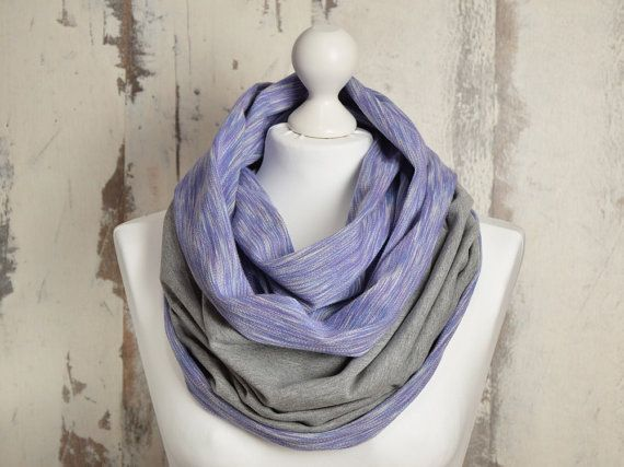 #AtelierWhiteMouse  #WarmScarf #VioletScarf #RawEdgesScarf #DoubleLoop #WinterScarf #snood #InfinityScarf #scarf #GreyScarf #BicolorScarf