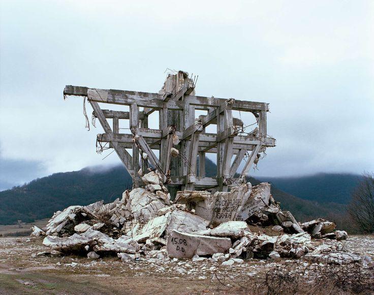 Yugoslavian collapsed monument