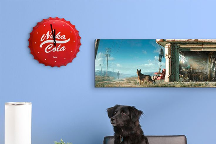 Fans of the game Fallout will love this vintage style clock shaped like a bottle cap from a nice, cold, refreshing Nuka Cola. It's perfect for it your spouse wants a cute, retro style house but you are a hardcore gaming fanboy! Decor everyone can love!