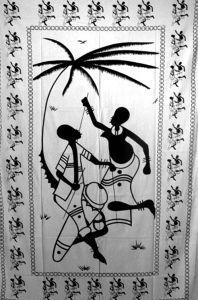 Tenture Ethnique Palm Tree