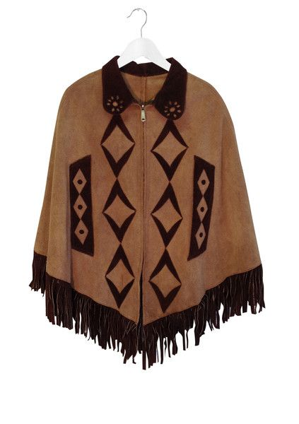 Suede Mexican Cape