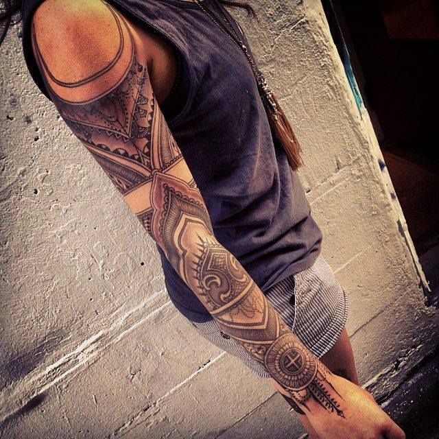 geometric sleeve tattoo designs | Found on fbcdn-sphotos-a-a.akamaihd.net