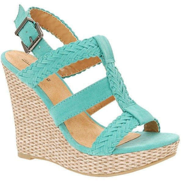 Turquoise braided rope wedge: Geise Wedge, Turquoise, Style, Color, Dream Closet, Wedge Sandals, Shoes 3, Wedges, Shoes Shoes