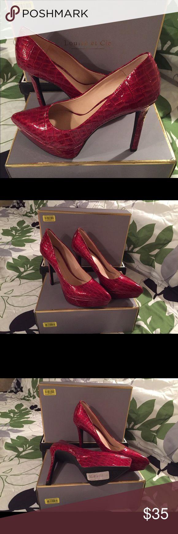 Pretty in Red high heel shoe New never worn. Gianni Bini Shoes Heels