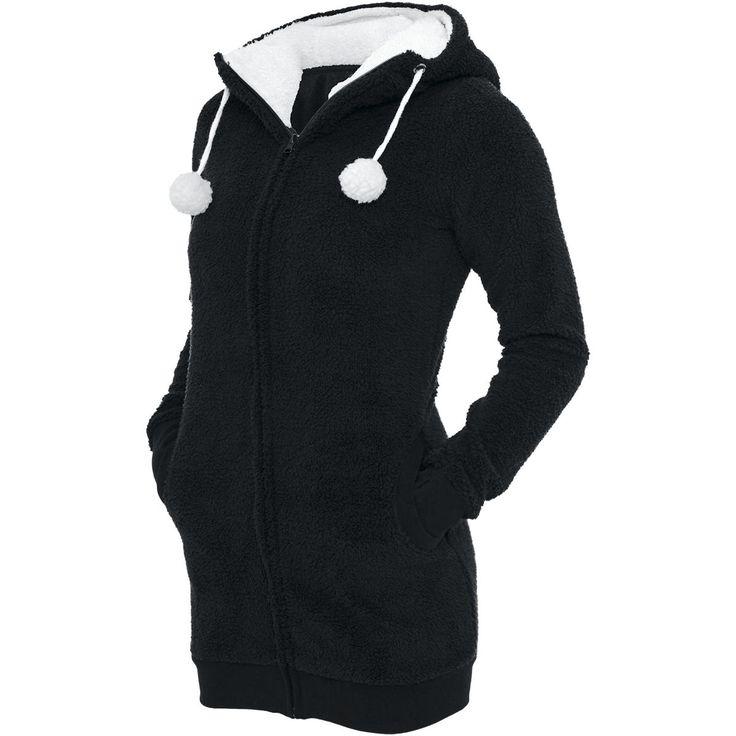 Teddy Long - Chaqueta con capucha Mujer por Urban Classics - Número Artículo: 233839 - desde 39,99 € - EMP tienda online de Camisetas, Merch...