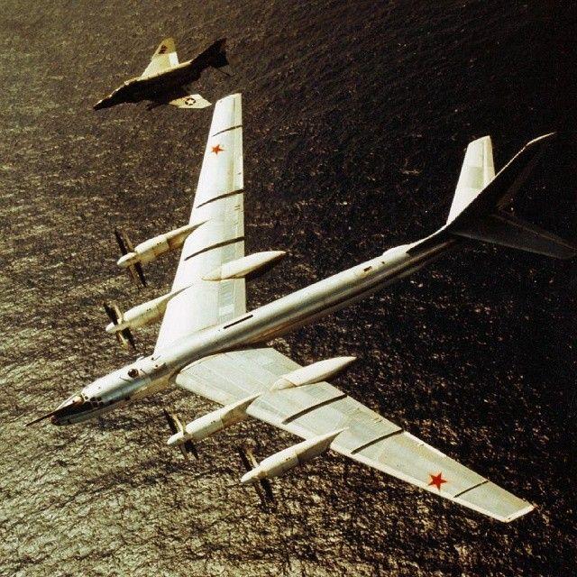 """Советский Противолодочный Самолёт Туполев Ту-142 и Американский истребитель F-4 """"Фантом"""" #Холодная_Война РОССИЯRUSSIA Soviet AntiSubmarine aircraft Tupolev Tu-142 and American fighter F-4 """"Phantom"""" #Cold_War ============================ #USSR #SovietUnion #Communism #WhatWasReality #Military #Powerful #Respect #Awesome #OldTimes #Nostalgic #Ностальгия #СССР #Армия #БылоВремя #Привет_из_Прошлого #Сил #Назад_в_СССР #Прекрасно #Коммунизма #Победа #СоветскийСоюз ============================ Our…"""