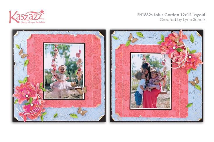 This project will show you how to create this gorgeous layout using the Terrace Garden range of SB papers. You will use Dylusions Paints to colour the Lotus Flowers. Challenging but well worth it!