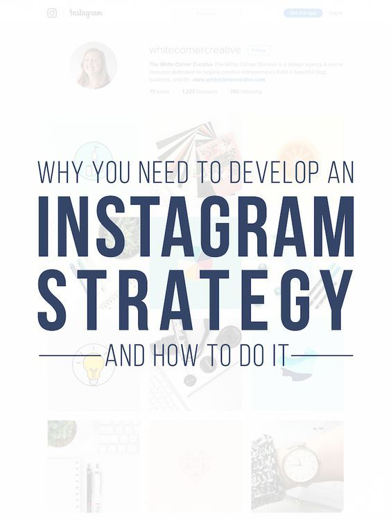 Why You Need to Develop an Instagram Strategy and How to do it.