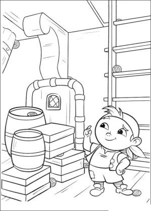 Jake and pirates coloring page 19