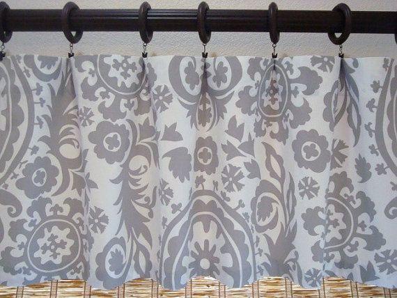 Suzani Custom Curtain Valance Kitchen Valance Modern Valance 52x12 52X14  52X16 52X18