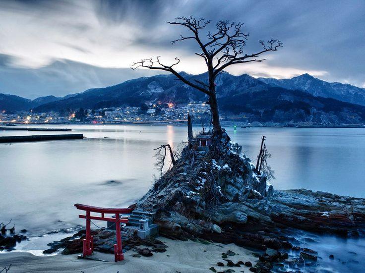 Shinto Shrine in Otsuchi, Japan  Photograph by Xu Xiaolin