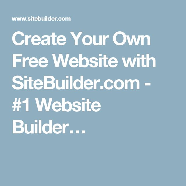 how to make own website on internet for free