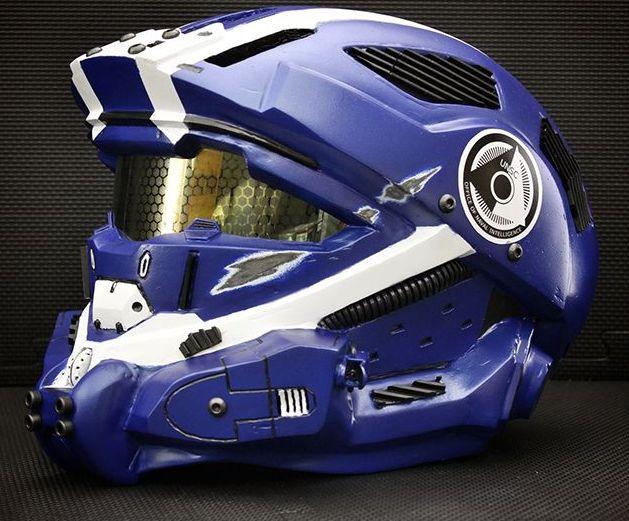 Halo 4 motorcycle helmet