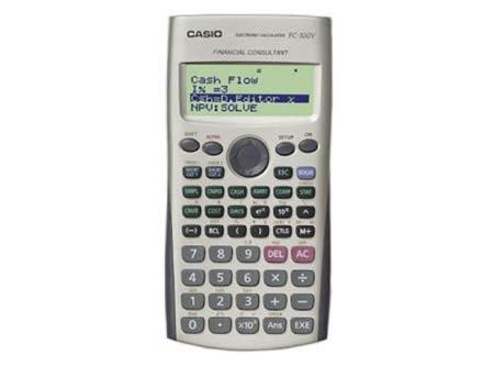 CALCULADORA FINANCIERA CASIO FC 100