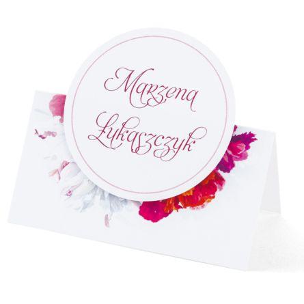 Winietka weselna z kwiatem Piwonii