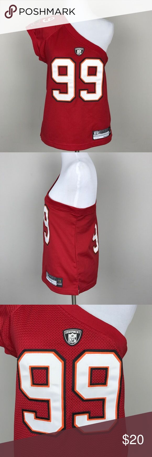 Reebok Warren Sapp Tampa Bay One Shoulder Jersey Rare Reebok Warren Sapp Tampa Bay One Shoulder Jersey I love this jersey but a little too big for me. I have gotten a lot of compliments on this jersey where ever I wore it. You'll definitely stand out from the others! Reebok Tops