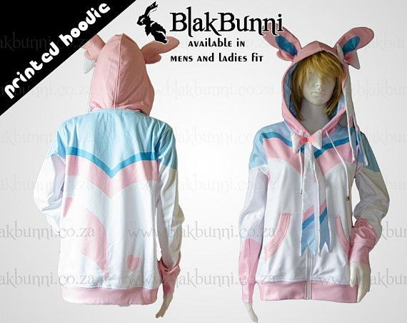 Pokemon Style Inspired Character Slowpoke Pink Game Printed Hoodie