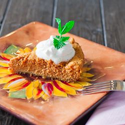 Pumpkin pie with graham cracker crust - For just 5 weight watchers points per serving, you can enjoy this luscious and delicious pumpkin pie, with whipped cream and all.