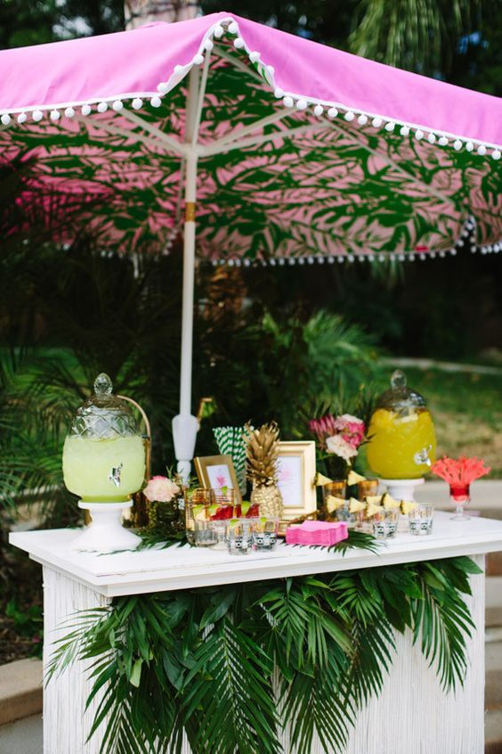 Palm Springs Bridal Shower Drink Ideas / http://www.deerpearlflowers.com/tropical-bridal-shower-ideas/
