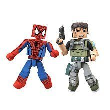Marvel Vs Capcom 3 Minimates Series 2 Mini Figure 2Pack SpiderMan Vs Chris Redfield ** More info could be found at the image url.