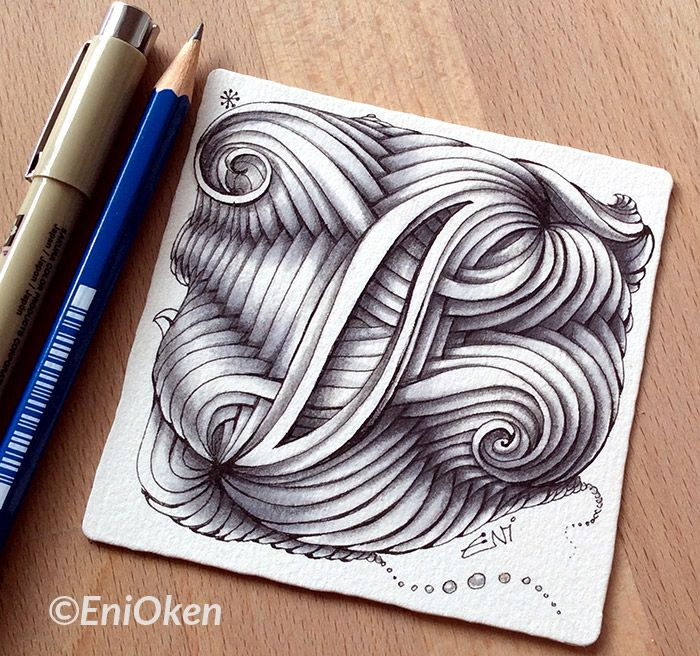 Lovely shading. Learn how to shade Zentangle® with Eni Oken • enioken.com