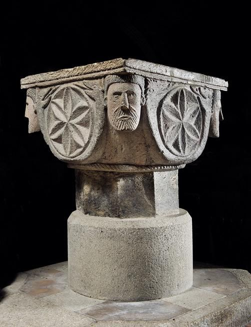 'A magnificent piece of Norman decoration.' Font, St Nonna, Altarnun. Pevsner #Cornwall guide http://ow.ly/AlWPJ