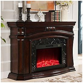 livibg room 62 quot grand cherry electric fireplace big lots
